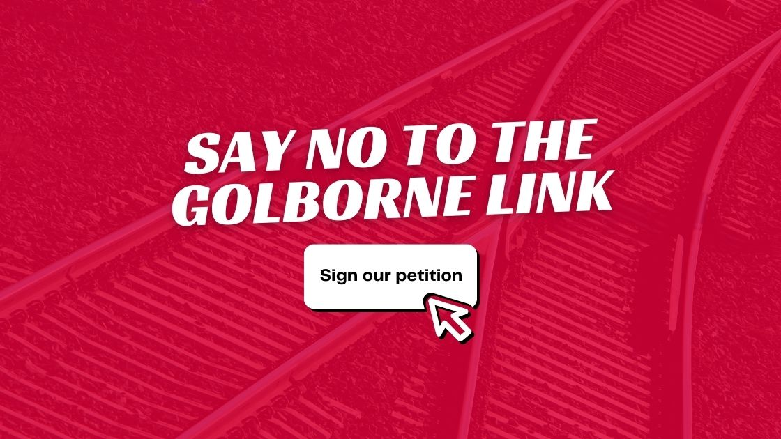 Say No To The Golborne Link Campaign Graphic